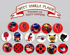 Miraculous Ladybug Cat Noir birthday Party cookie or cupcake Toppers Cup Cake