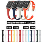 Silicone Sport Band for Apple Watch Series 5 4 3 2 1 Slim iWatch Strap Men Women image