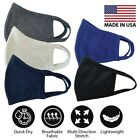 Face Cover Mask 100% Soft Cotton Unisex Washable Reusable 5 Colors Made In Usa