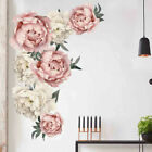 Large Peony Rose Flower Art Wall Sticker Living Room Home Background Diy Decalle