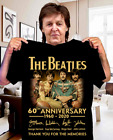 The Beatles 60th Anniversary 1960-2020 Signature Unisex T-Shirt image