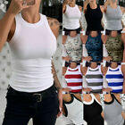 Womens Sleeveless Plain Vest Top Summer Casual Slim Fit Tank Top T-Shirt Blouse.