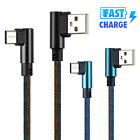 Type C 90 Degree Right Angle USB C 3.1 Fast Data Sync Charging Charger Cable Hot