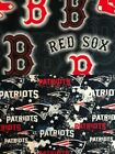 New England Patriots distressed or Red Sox Dot fabric 1/4 yard 9 x 45 face mask $9.0 USD on eBay