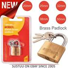 Amtech Tough Brass Heavy Duty Padlock│For Travel Luggage Suitcase│20mm to 50mm