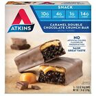 Atkins Snack Protein Bar Caramel Double Chocolate Crunch Keto 1.55 - 5 Count