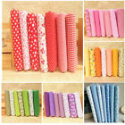 7 Pieces Assorted Fabrics 100% Cotton Floral Pre-Cut Fat Quarters Bundle DIY
