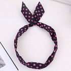 Women's Twist Wire Headbands Rabbit Ears Knot Head Bunny Hair Tie Wrap Bow Bands