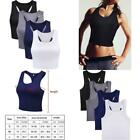 4 Pieces Women Cotton Basic Sleeveless Racerback Tank Top Camisole Sports Crop T