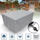 Outdoor Garden Furniture Cover Waterproof  Rattan Table Chair Set Park Square Au