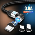 180+360 Rotate Magnetic Phone Cable  Type C Micro USB Charger For iPhone Samsung