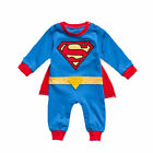 Superman Newborn Baby Boy Babygrow Romper Clothes Tops Pants Outfits Set UK