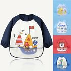 Baby Toddler Kids Waterproof Long Sleeve Bibs Apron Cartoon Bib Feeding Smock