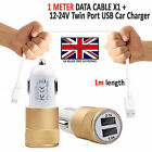 DOUBLE IN CAR CHARGER PLUS MICRO USB CHARGING CABLE LEAD FOR SAMSUNG GALAXY J4
