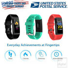 Bluetooth Fitness Smart Watch Activity Tracker Heart Rate works with iOS Android