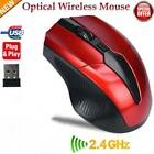 2.4GHz Cordless Wireless Optical Mouse Mice Laptop PC Computer  USB Receiver