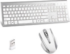 Wireless Keyboard and Mouse Combo,2.4GHz Dropout-Free Connection,Full Size Slim