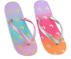 Girls Cute Unicorn Flip Flop with Glitter Strap size 9/10 11/12 13/1 2/3 Summer
