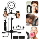 "Dimmable 6"" LED Ring Light Tripod Stand Kits For Youtube Video W/ 2 Phone Holder"
