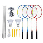 Badminton Combination Set 4 Rackets +Net +Badmintons Outdoor Fun Family Games