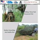 Camouflage Net Sunshade Awning Ghillie Suit Woodland Jungle Camo Hood Gun w/ Bag