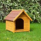 Wooden Dog Kennel Classic Pitched Roof Waterproof Raised Spike Quality Outdoor