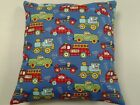 Throw Pillow Cover,fire Trucks, Trains, Cars, Decor, Hand Made By Linda