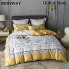 Luxury Egyptian Cotton Bedding Set Satin Duvet Cover Bed Sheet Set Fitted Sheet image
