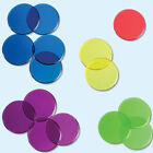 Transparent Color Round Counting Plastic Chips by Baby Learn Resource Q