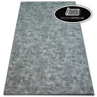 Modern Long Life Carpet Floor 'Pozzolana' Grey Thick Large Rugs On Dimensions