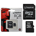 SCHEDA DI MEMORIA MICRO SD 8 GB KINGSTON SD CARD CON ADATTATORE
