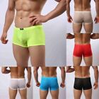 Men's Silky Soft Tight Fitted Lycra See-Through Jacquard Boxer Shorts Underwear