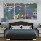 wall26 3 Panel Canvas Wall Art - Waterlilies by Claude Monet - Modern Home Decor
