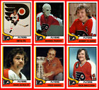 PHILADELPHIA FLYERS 1974-75 High Grade NHL Custom Made Hockey Cards U-Pick THICK $1.85 USD on eBay