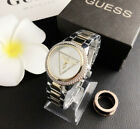 Fashion Women's Design Watch Stainless steel Guesss Crystal Wristwatch image