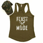 Workout Tanks for Women, Thanksgiving Tanks Funny, Feast Mode,
