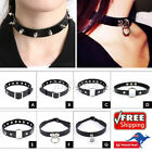 Choker Punk Studded Collar Sexy Goth Diamond Stud Spike Bondage Ring Neck Rock