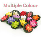 1x10cm Artificial Aquarium Water Lily Floating Flower Pond Tank Plant Tu
