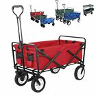Outdoor Collapsible Folding Utility Wagon Cart Safe Garden Trolley Camp Sports