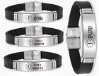 Medical Alert Bracelet Asthma Diabetes Type 1 & 2 Epilepsy Stainless Steel UK