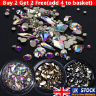 3d Mixed Nail Art Rhinestones Crystal Gems Jewelry Gold Ab Shiny Stones Decor Uk