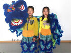 Folk Art Lion Dance Mascot Costume Pure Wool Southern Lion For Two Kids
