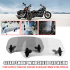 Motorcycle Clear/Smoke Windshield Extension For Harley Yamaha BMW Universal