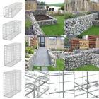 Gabion Stone Basket Retaining Wall Wire Cage Fence Privacy Galvanized 4 Sizes