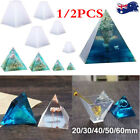 1/2pyramid Silicone Mold For Resin Jewelry Making Mould Pendant Craft Diy Supply