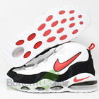 Nike CK0892-101 Men's Air Max Uptempo '95 Basketball Shoes White/Red-Black