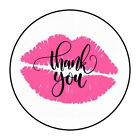 """30 1.5"""" PINK LIPS KISS THANK YOU ORDER ENVELOPE SEALS LABELS STICKERS"""