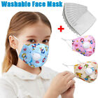 Washable Kids Reusable Cotton Face Mask&breathing Valve Protective Fliter Pad