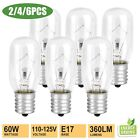 2/4X Light Bulb for Whirlpool Microwave E17 Base 125V 40W Replace Part# 8206232A