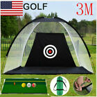 Foldable Golf Net Training Aid Practice System Hitting Chipping Net + Mat+3Ball